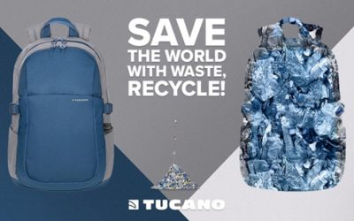 Zaini e borse in plastica riciclata, la nuova sfida di Tucano per un futuro sostenibile