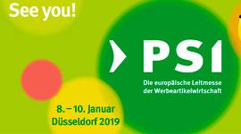 Lo stand Tucano al PSI Messe 2019 di Dusseldorf, la più importante fiera europea del promozionale
