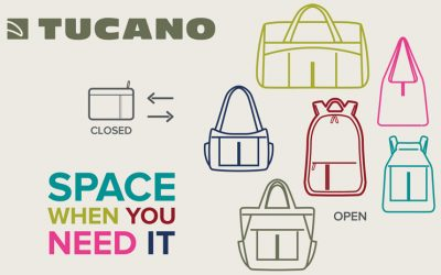 Compatto bags and backpacks, extra space right when you need it