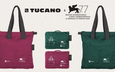 Recycled plastics and Italian design are the key elements of the Tucano shoppers for the 77th edition of the Venice International Film Festival of the Biennale di Venezia